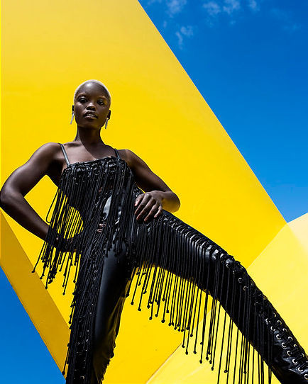 Image of melbourne model Flavia wearing Jacinta James