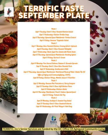 TERRIFIC TASTE September Plate