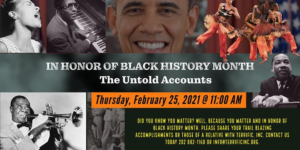 Black History Month Untold Stories