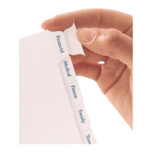 Tabuladores Blancos Con Calcomania - Compacto