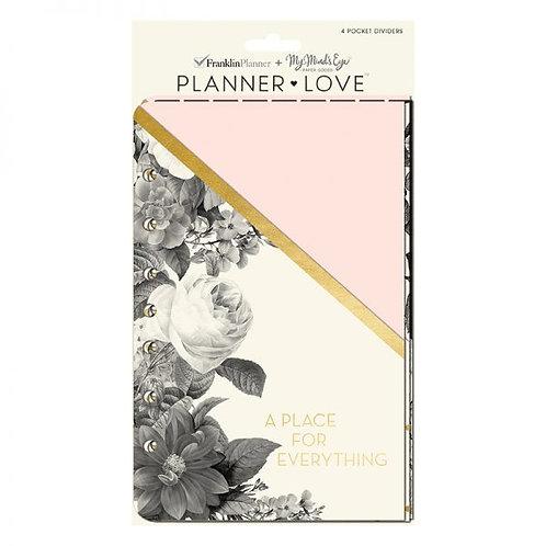 Blush Florals Planner Love Pocket Dividers