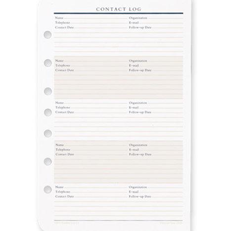 Registro De Contactos - Bolsillo