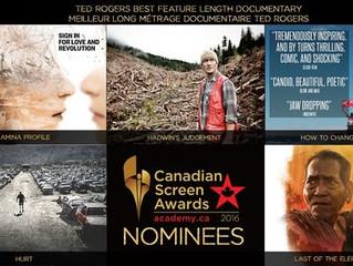 Canadian Screen Award Nominations