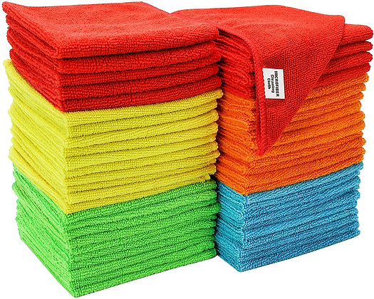 S&T INC. Microfiber Cleaning Cloth (5 pack)
