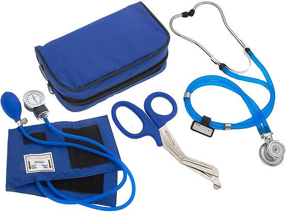 Nurse/EMT Starter Pack Stethoscope, Blood Pressure Monitor (Blue)