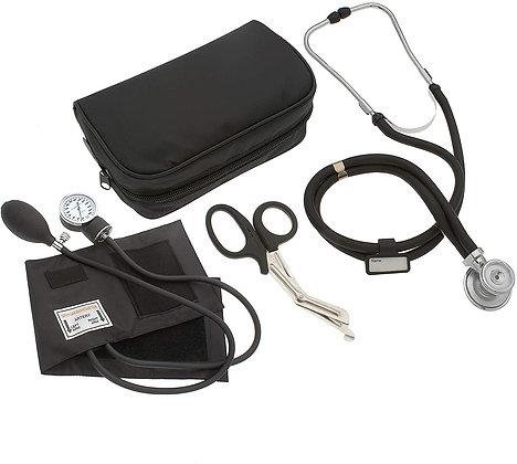 Nurse/EMT Starter Pack Stethoscope, Blood Pressure Monitor (Black)
