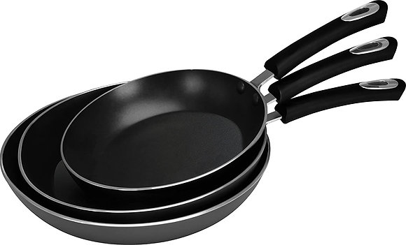 Utopia Kitchen Nonstick Frying Pan Set - 3 Piece Induction Bottom - 8 Inches, 9.