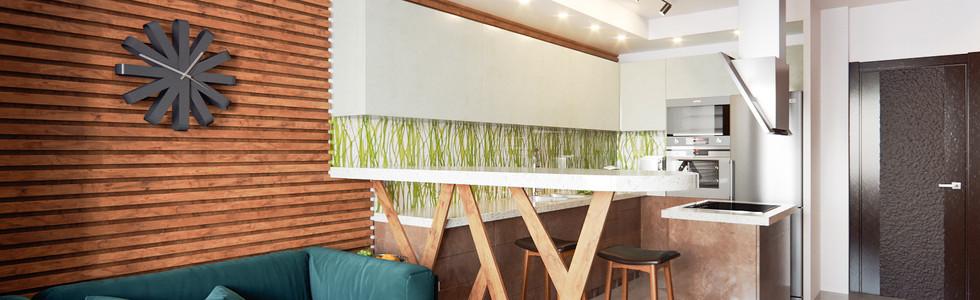 Наливные полы и стеновые панели из реек