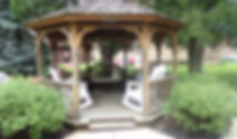 Gazebo on east side of Manor