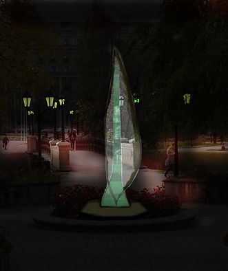 Layered Glass Sculpture Post Procella aka After The Storm 3D Model in landscape