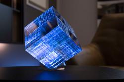 Certus Libra layered glass cube