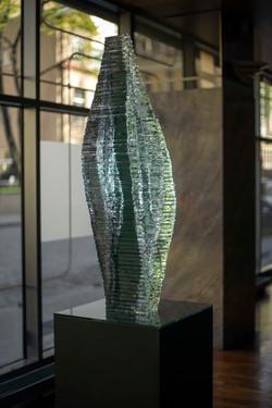 Layered selective Glass sculpture Caleo_Ernest Vitin