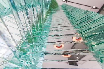 Layered Glass Sculpture Virtute details