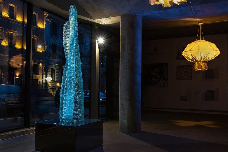 Monumental glass sculpure Halitus by Ernest Vitin