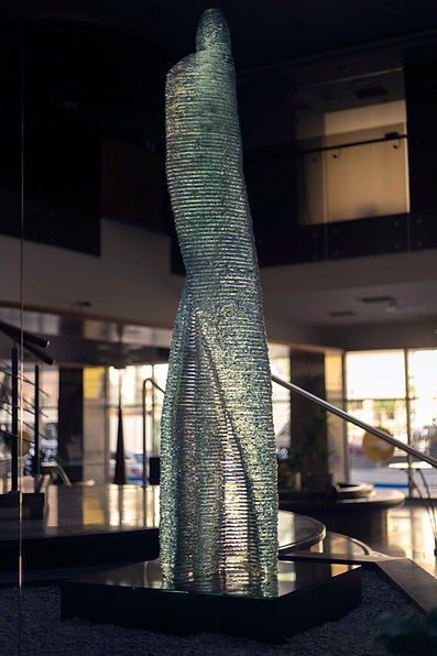 Stacked glass sculpure Halitus by Ernest Vitin