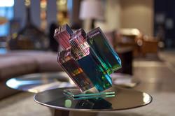 Staked glass art_ ernest vitin_meteorite
