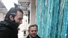 Mikhail Baryshnikov visiting Ernest Vitin
