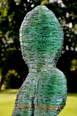 Pullulare stacked glass sculpture