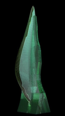 Layered Glass Sculpture Post Procella aka After The Storm 3D Model side