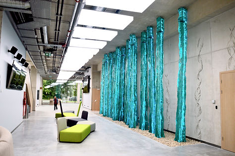 In Nature, enritely handmade architectural glass installation, by Ernest Vitin
