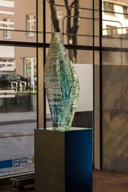 Layered Glass sculpture Caleo_handmade by Ernest Vitin