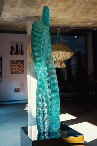 Halitus Layered glass sculpture by Ernest Vitin