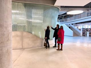 Glass artist Kari Kuisma and Raija Kuisma visiting Ernest Vitin
