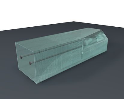 Layered Glass Benches 3D model Ernest Vitin, University of Latvia