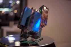 Layered glass art_ernest vitin_meteorite 2016