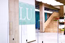 Layered glass signboard