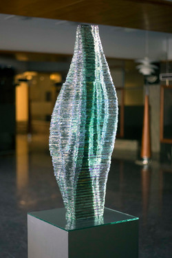 Stacked Glass sculpture Caleo_Ernest Vitin