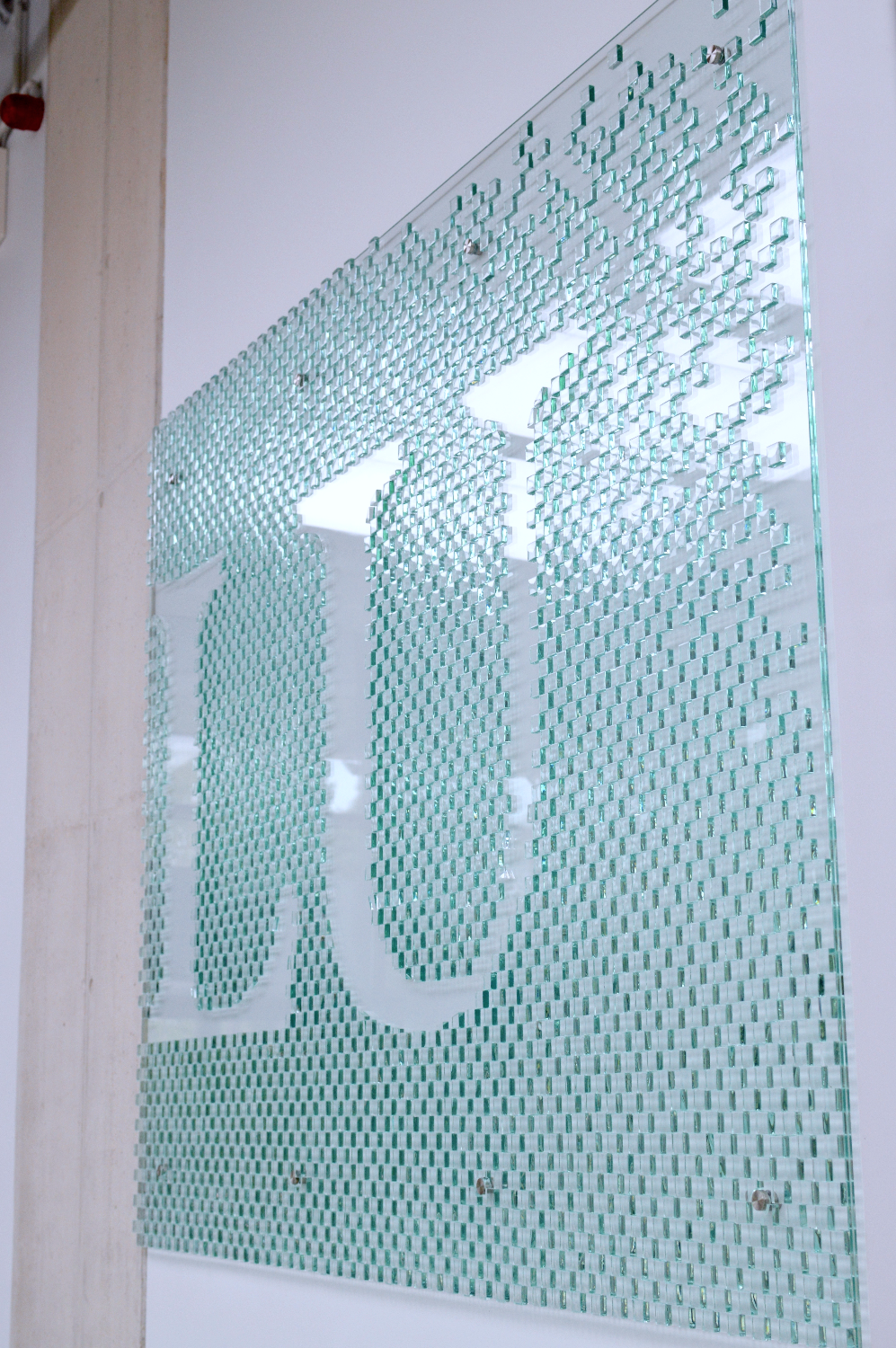 Glass signboard by Ernest Vitin