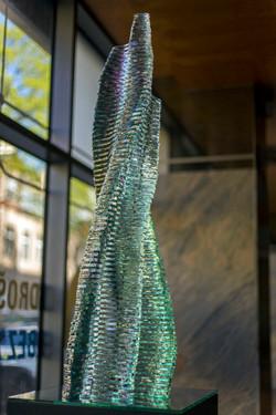 Layered glass sculpture Harenam_Ernest Vitin