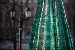 Layered Glass Fir Tree Element