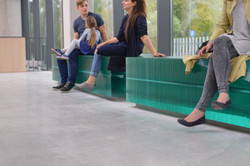 Layered Glass Benches