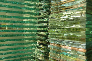 Layered Glass Sculpture Post Procella aka After The Storm details