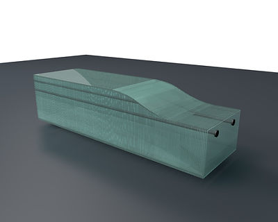Layered Glass Benches 3D model Ernest Vitin