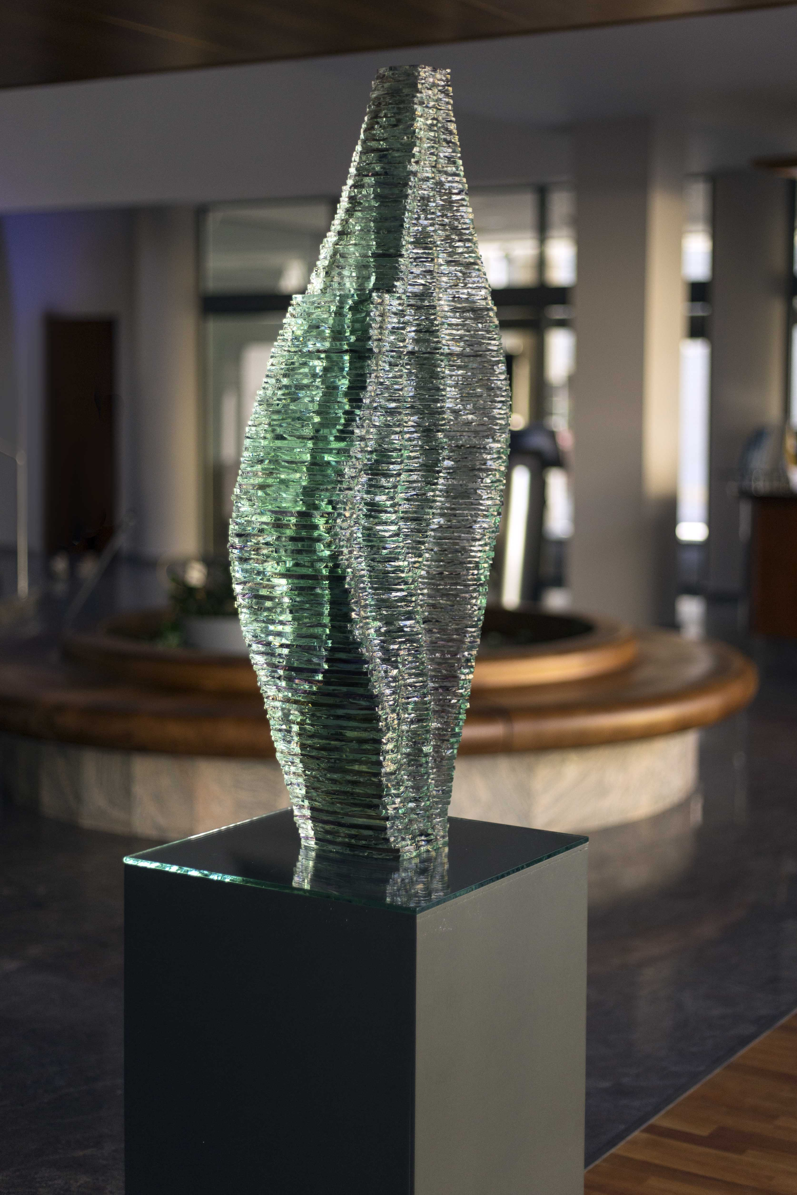 Layered Glass sculpture Caleo_Ernest Vitin