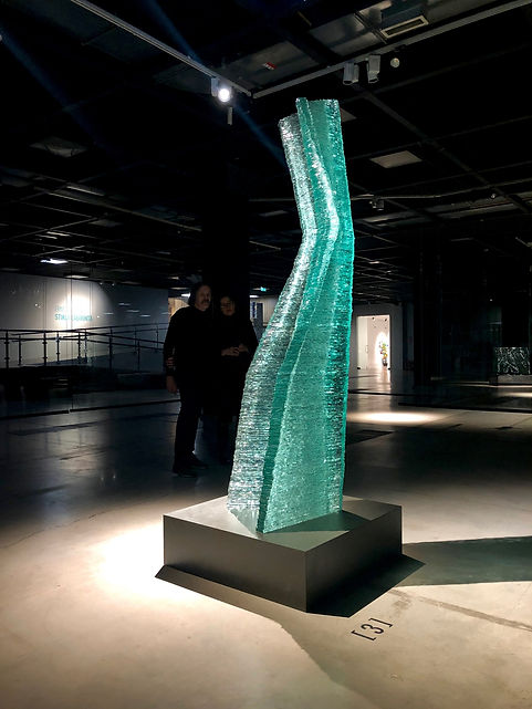 glass artist Kari Kuisma and Raija Kuism
