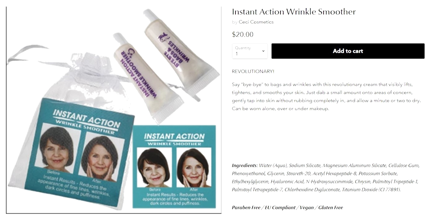 Instant Action Wrinkle Smoother