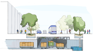 SideWalk Labs illustrated vision for a more sustainable urban environment.