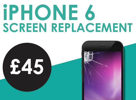 iPhone 6 screen replacements £45.00
