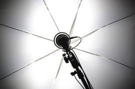 Fotografía reflector de la lámpara