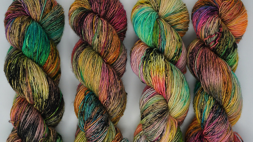"""OOAK"" fingering/ single ply/ 100% Superwash Merino"