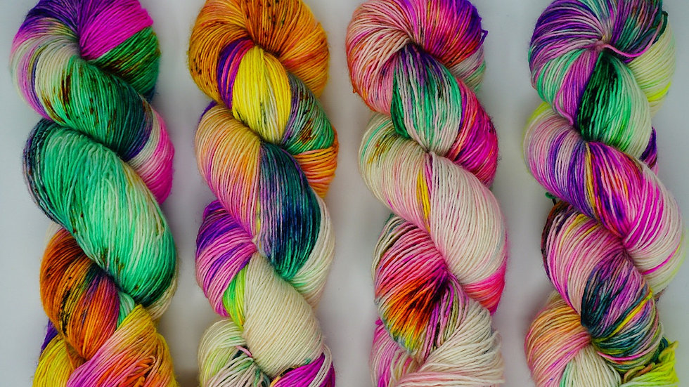 """Heavy Breathing"" fingering/ single ply/ 100% Superwash Merino"
