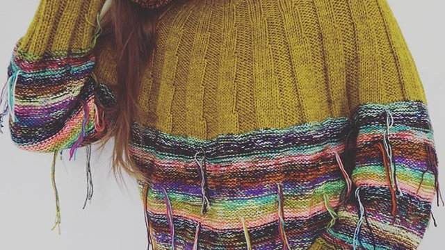Knitdiaries hand-knit sweater (100% proceeds will be donated)
