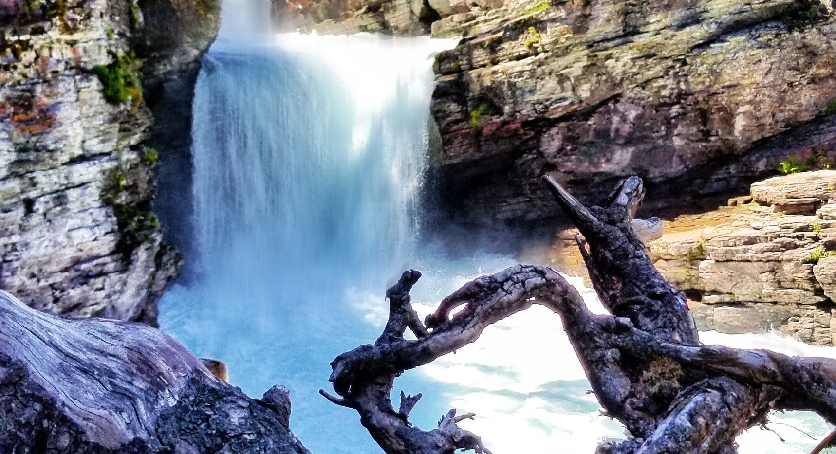 Water Fall Through Lens