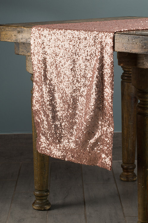 Specialty Rose Gold Sequins Runner