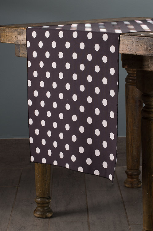Specialty Black with White Dots Runner