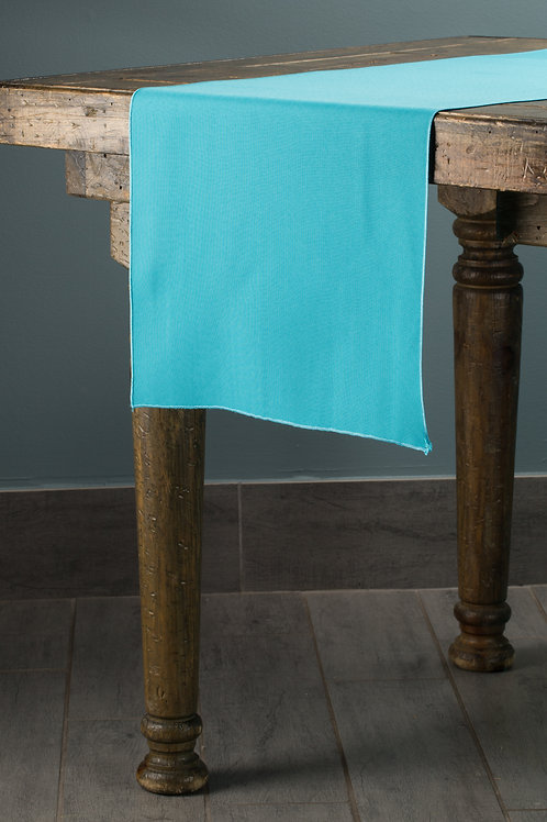 Classic Solid Turquoise Runner